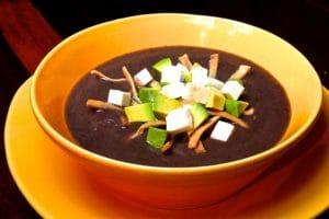 Mexican Black Bean Soup - Sopa de Frijol Negro