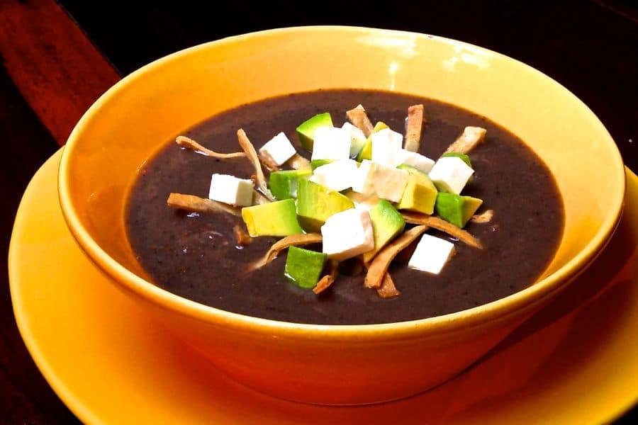 Black Bean Soup - Sopa de Frijol Negro