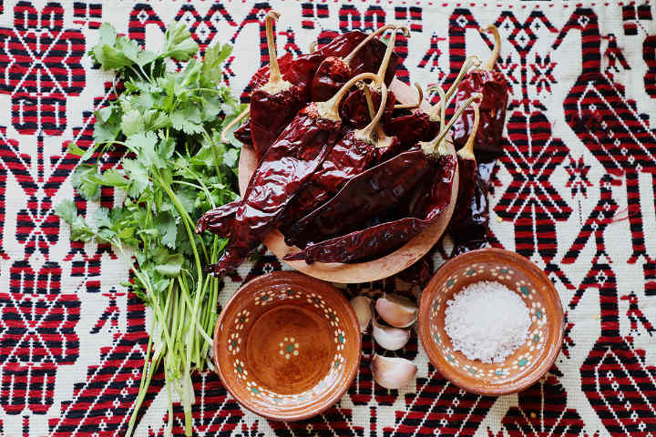 Ingredients Guajillo Chile Salsa