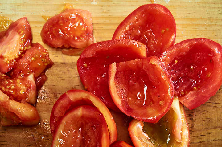 Seeded Chopped Tomatoes