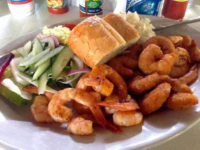 Shrimp Platter at Mauricio's Restaurant in Puerto Vallarta