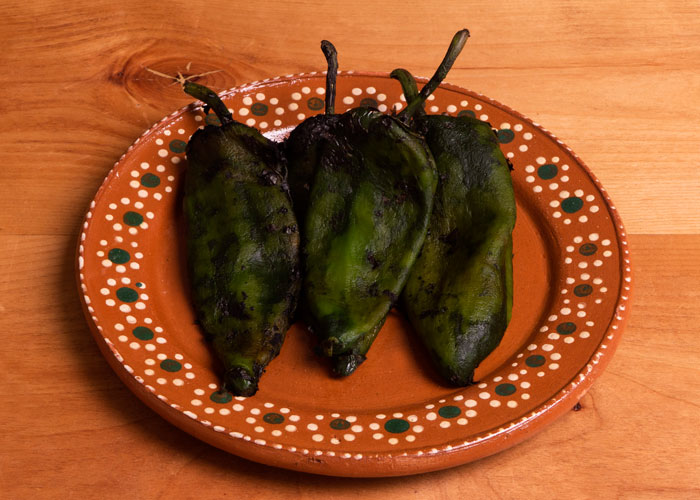 Roasted and Peeled Poblano Chiles