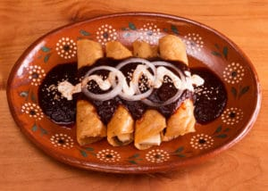 Panela Cheese Enchiladas with Red Enchilada Sauce