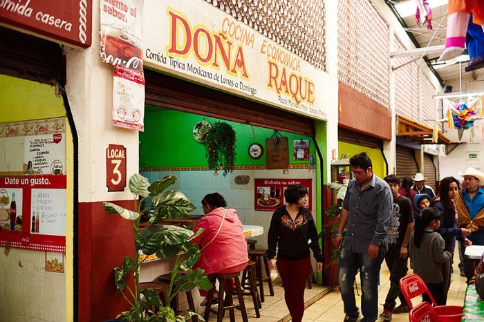 Doña Raque Food Stall at the Mercado San Juan de Dios