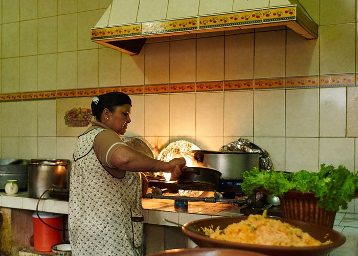 Cook in the Kitchen at The Doña Roque Food Stall