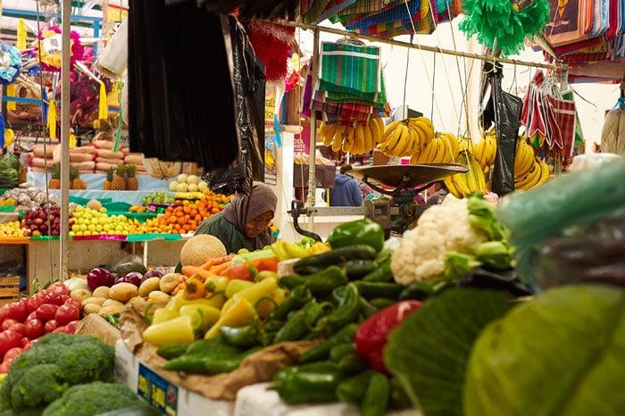 Woman Shopping at the Mercado San Juan de Dios