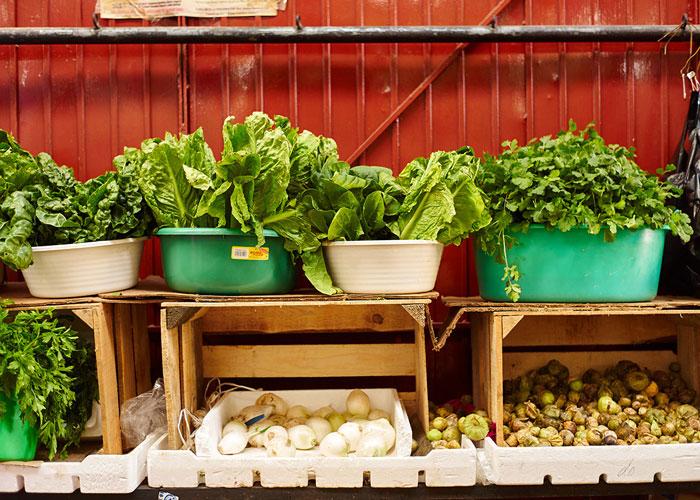 Greens For Sale at the Mercado San Juan de Dios
