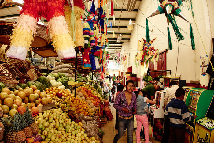 Inside the San Juan de Dios Market
