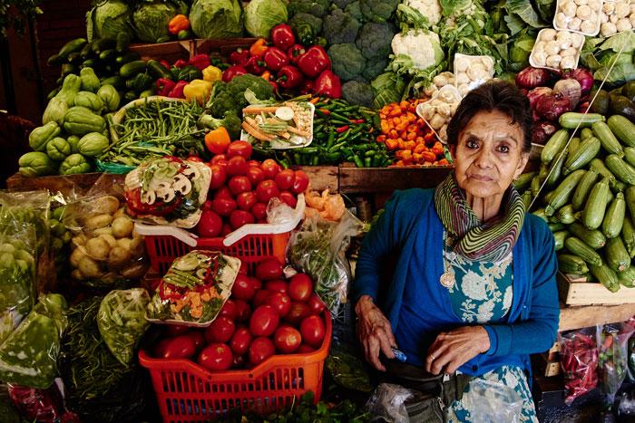 Fruit and Vegetable Vendor at the San Juan de Dios Market