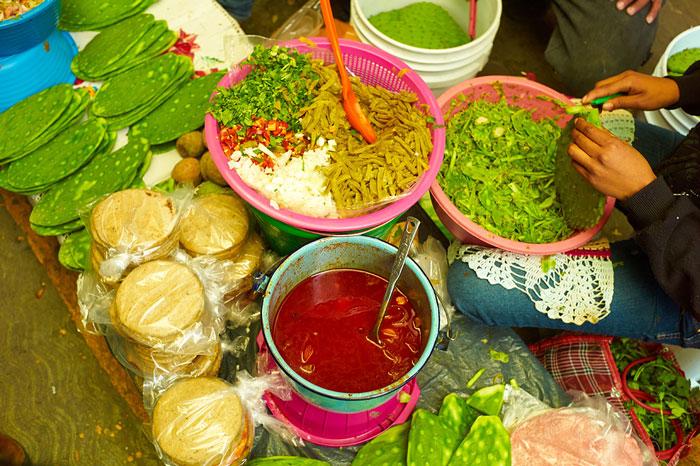 Prepared Foods For Sale at the Mercado San Juan de Dios