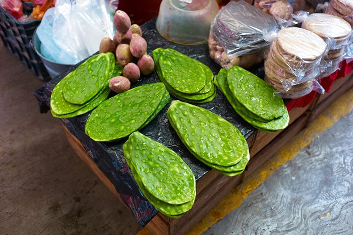 Cleaned Nopal For Sale at the Mercado San Juan de Dios