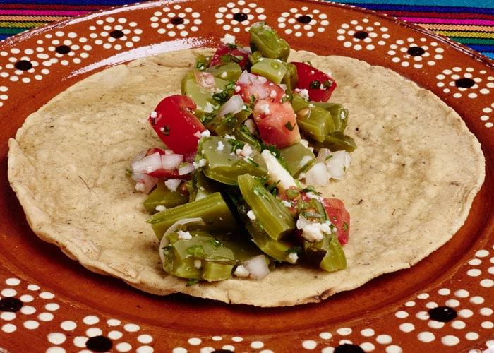 Taco de Ensalada de Nopal