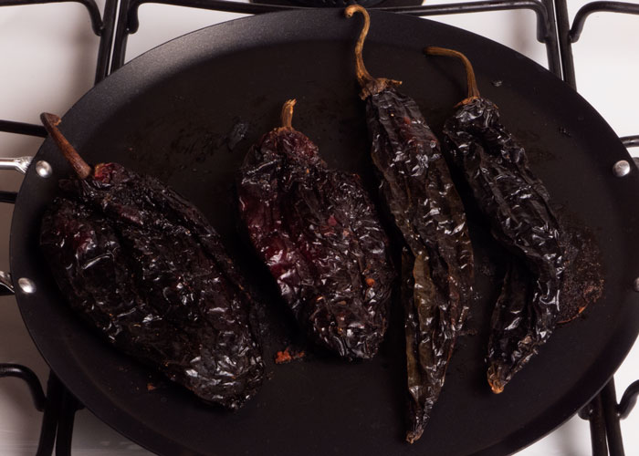 Toasting Chiles