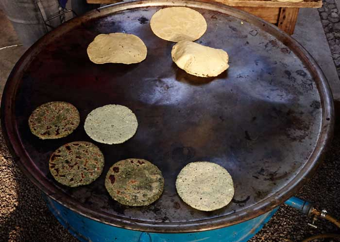 Gorditas and Tortillas on the Comal