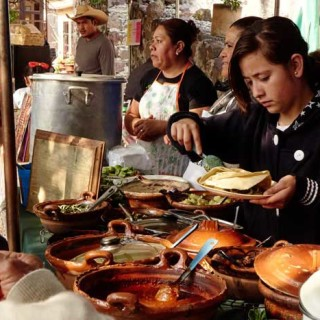 Traditional Food Stand at the Organic Market, San Miguel de Allende