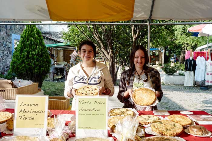 Traditional French Quiches at the Farmer's Market