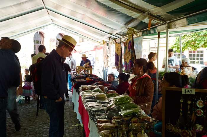 Shopping at the Organic Market