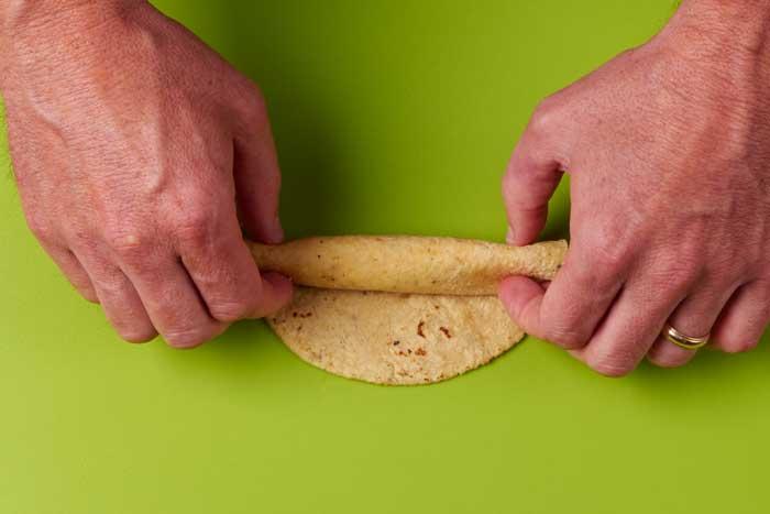 Rolling a Chicken Taquito