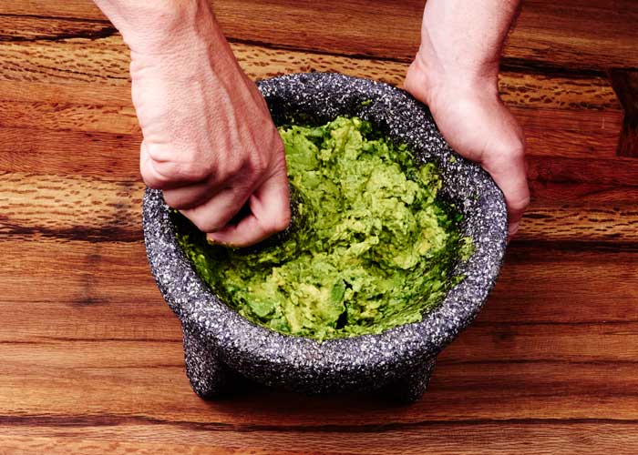 Making Guacamole in the Molcajete, Step 6