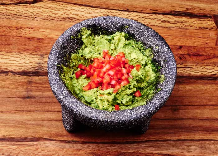 Making Guacamole in the Molcajete, Step 7