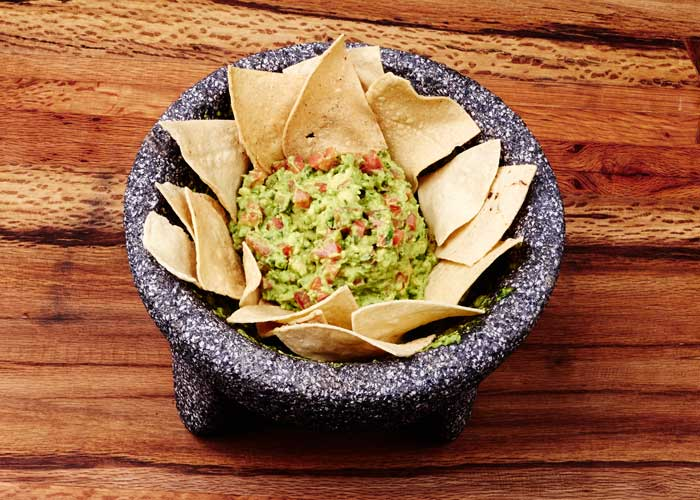 Guacamole Made in the Molcajete