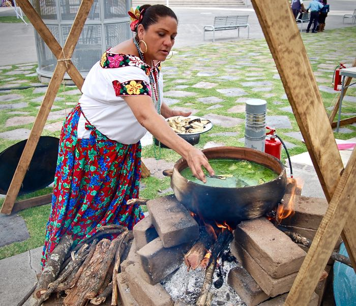 Traditional Cook Preparing Sopa de Pejelagarto