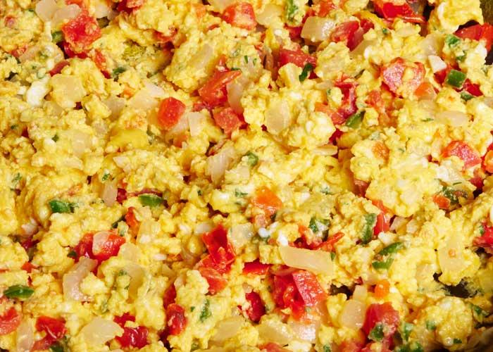 Huevo a la Mexicana Closeup