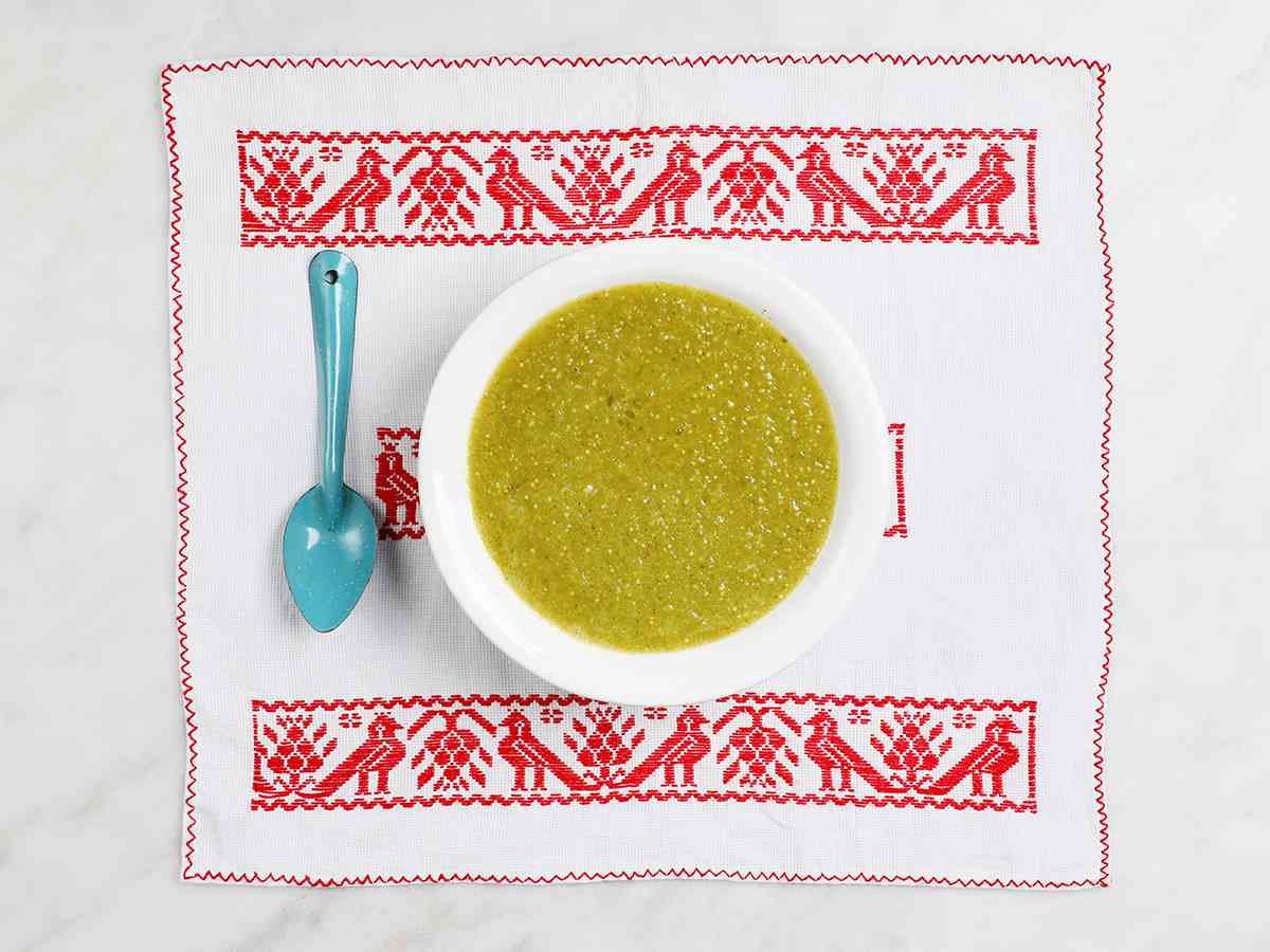 Bowl of Authentic Mexican Salsa Verde