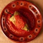 Chile Relleno with Salsa Roja