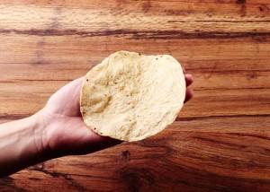 Corn Tortilla in Hand