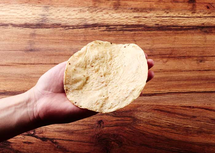 Corn Tortilla in Hand