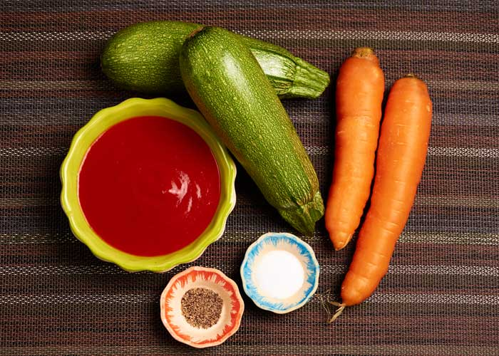 Ingredients for Carrot Zucchini Soup