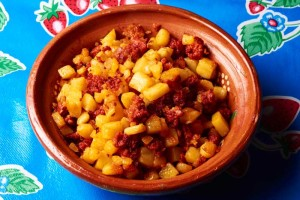 Filling for Potato Chorizo Tacos