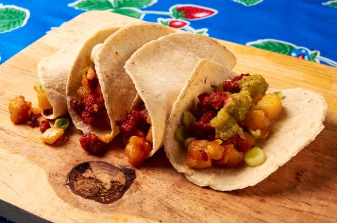 Potato and Chorizo Tacos