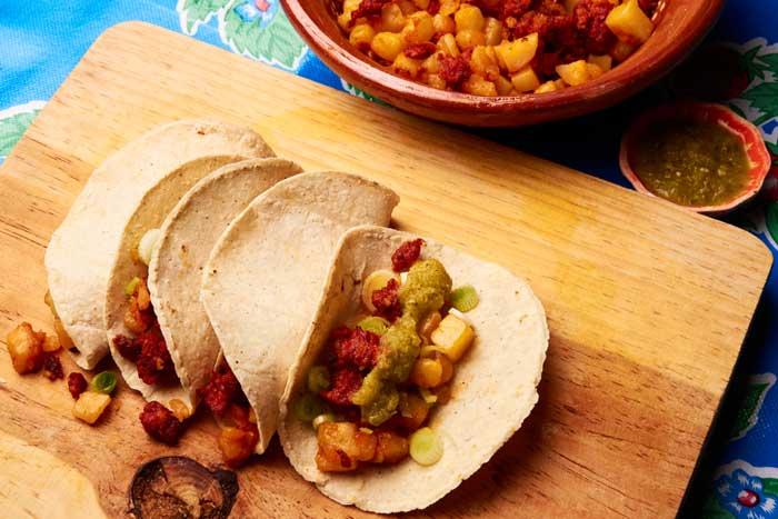 Tacos Potato Chorizo
