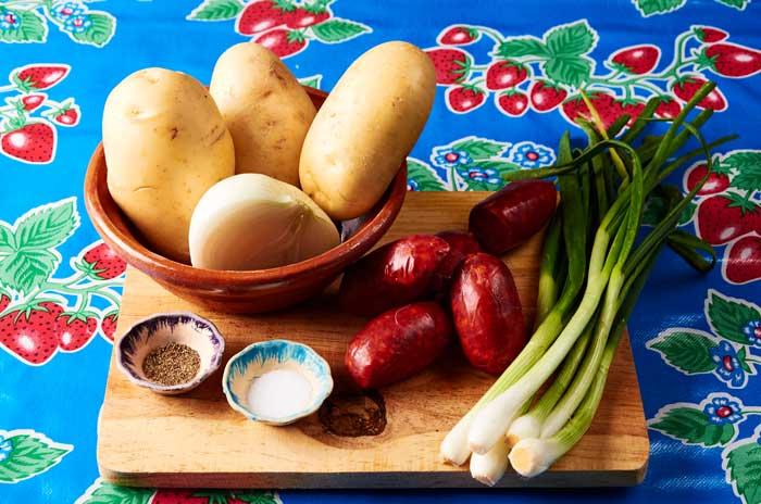 ingredients potato chorizo tacos