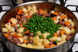 Add Green Peas to Picadillo