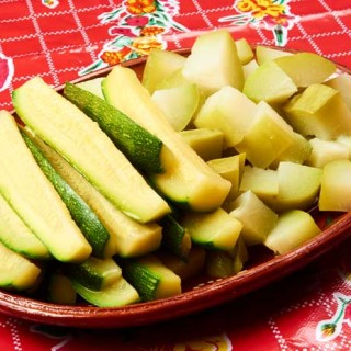 Chayote and Zucchini Squash Salad