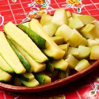 Chayote and Zucchini Squash Salad