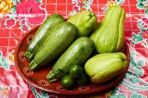 Chayote Zucchini Salad Ingredients