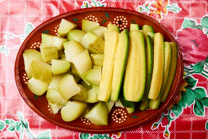 Chayote and Zucchini Salad