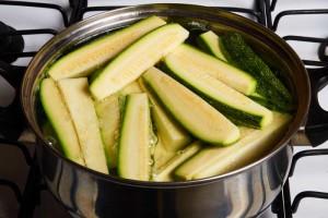 Chayote and Zucchini in Pot