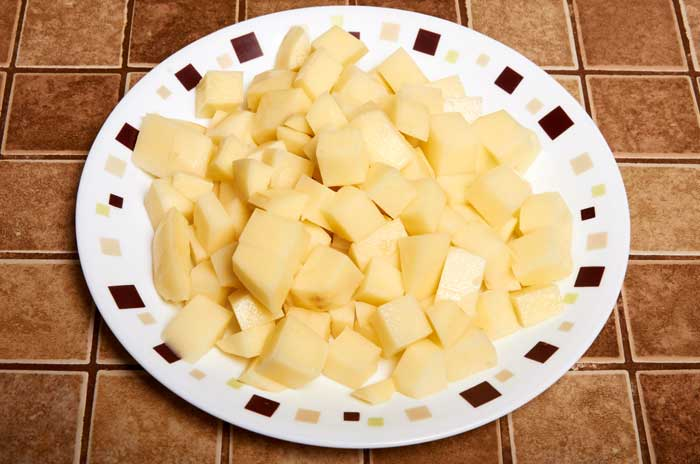 Chopped Potatoes
