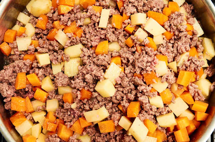 Ground Beef Potatoes Carrots Cooking