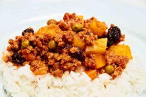 Picadillo and White Rice