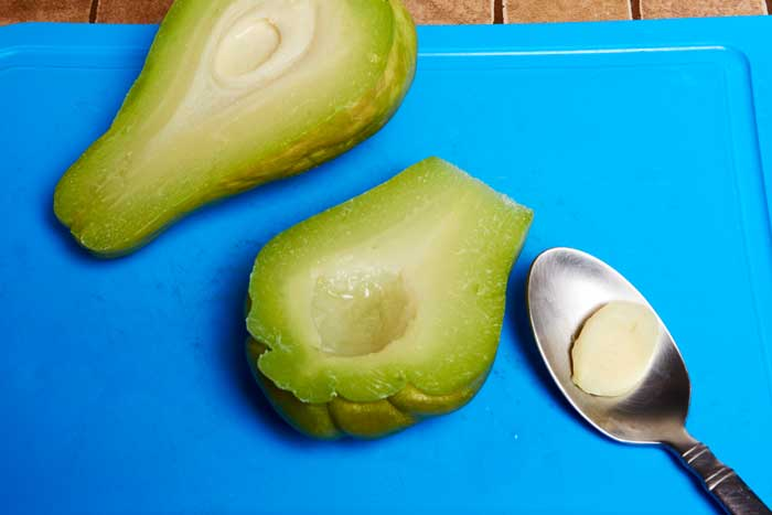 Remove Hard Center Chayote