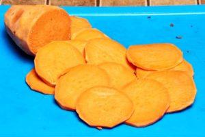 Slicing Sweet Potatoes