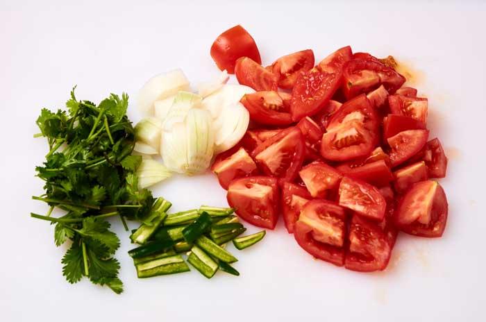 Chopped Ingredients Restaurant Salsa