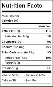 nutrition-information-restaurant-salsa