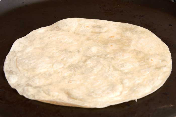 Tortilla on Comal